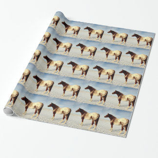 Appaloosa Mare in Winter Snow Wrapping Paper