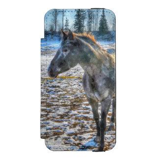 Appaloosa Stallion in the Snow Horse - Equine Art Incipio Watson™ iPhone 5 Wallet Case