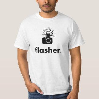 Appareil-photo de photographe de clignoteur t-shirt