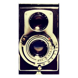 Appareil-photo vintage carte de visite standard