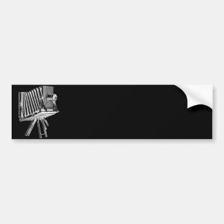 Appareil-photo vintage - noir antique de photograp autocollant de voiture