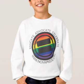 Apparel - Large LGBT Round with round text Sweatshirt