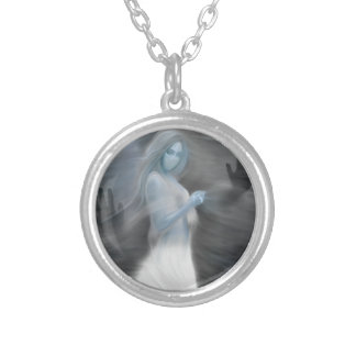 """""""Apparition"""" Silver Plated Necklace"""