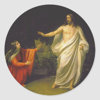 Appearance of Jesus Christ to Maria Magdalina Classic Round Sticker
