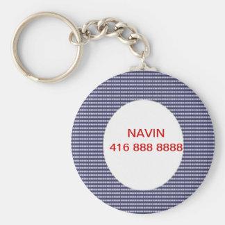 Appel--SVP remplacent le nom et le numéro de télép Porte-clé Rond