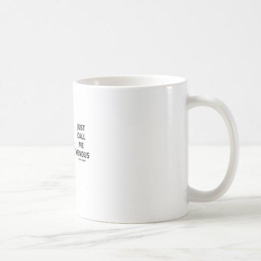 Appelez-juste moi veineux (l'humour d'appareil cir tasses à café