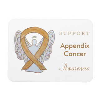 Appendix Cancer Awareness Ribbon Angel Magnets