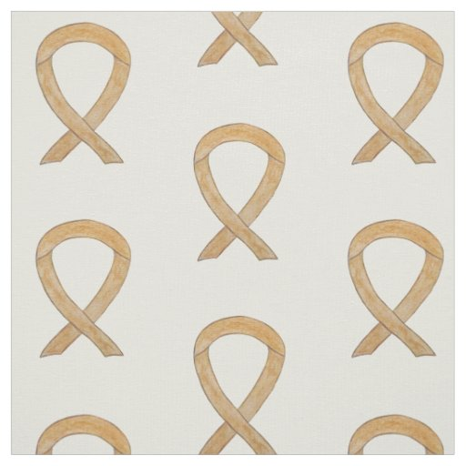Appendix Cancer Fabric Amber Awareness Ribbon Art