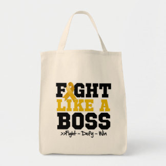 Appendix Cancer Fight Like a Boss Grocery Tote Bag