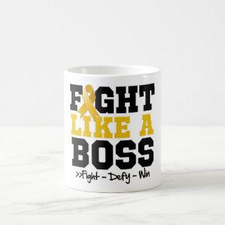 Appendix Cancer Fight Like a Boss Coffee Mug