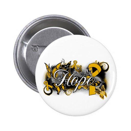 Appendix Cancer Hope Garden Ribbon Buttons