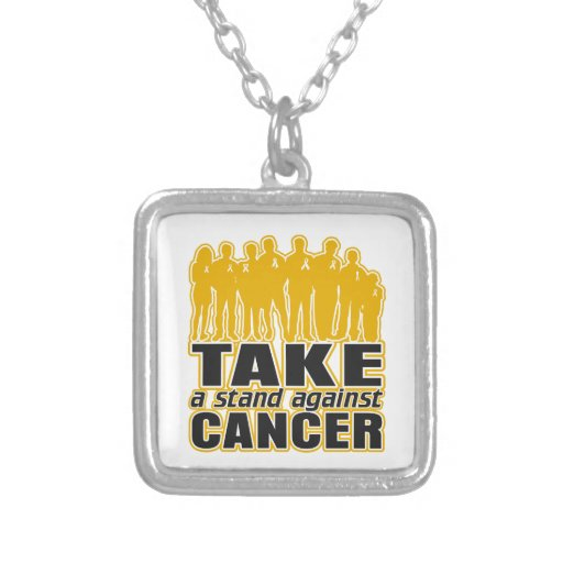 Appendix Cancer - Take A Stand Against Cancer Necklace