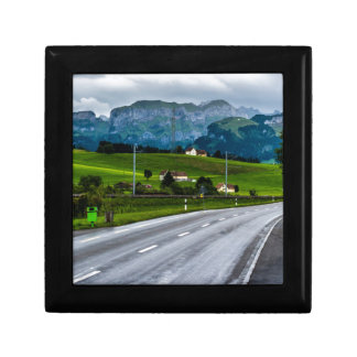 Appenzell Alps during a rain storm - Switzerland Keepsake Boxes