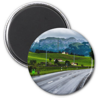 Appenzell Alps during a rain storm - Switzerland Magnet