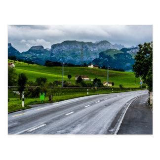 Appenzell Alps during a rain storm - Switzerland Postcard