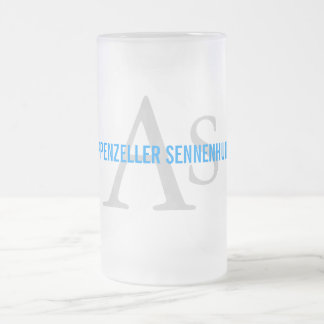Appenzeller Sennenhund Monogram 16 Oz Frosted Glass Beer Mug