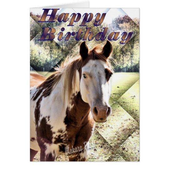 Appie Horse Bday Card-customize Card