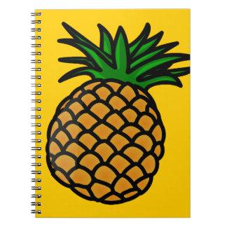 apple-25251 CARTOON PINEAPPLE YUMMY DELICIOUS FRUI Spiral Notebooks