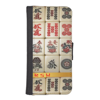 Apple 5/5s Mahjong monogrammed iPhone SE/5/5s Wallet Case