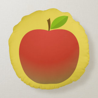 Apple and a Half(2 sides) Round Pillow
