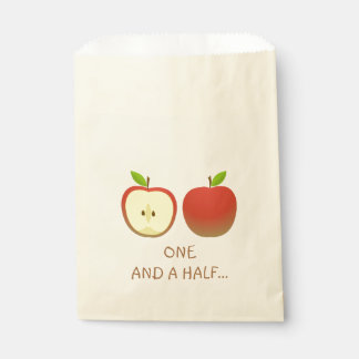Apple and a Half Favour Bag