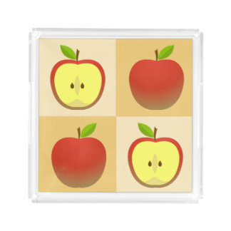 Apple and a Half pattern Acrylic Tray