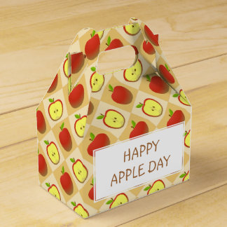 Apple and a Half pattern Favor Box