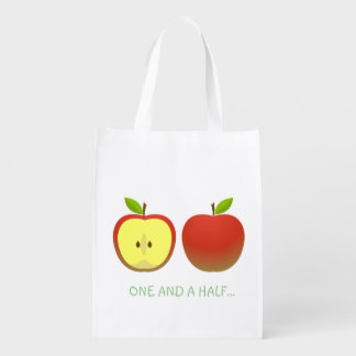 Apple and a Half Reusable Grocery Bag