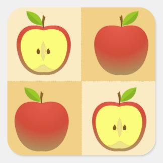 Apple and a Half Square Sticker