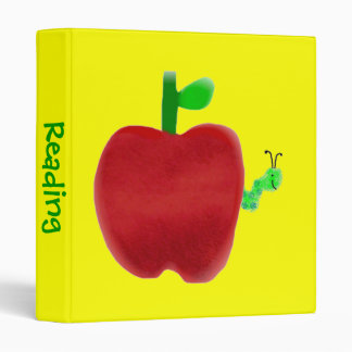 Apple and Bookworm 3 Ring Binders