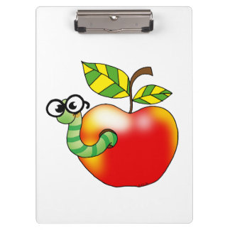 apple and bookworm (back to school) clipboard
