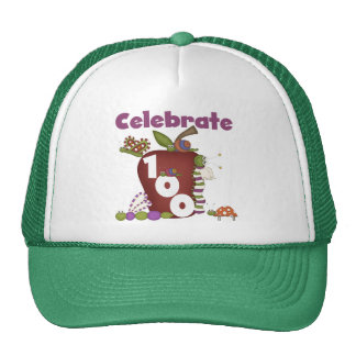 Apple and Bugs Celebrate 100 Tshirts and Gifts Trucker Hats