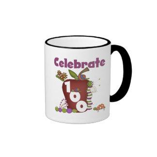 Apple and Bugs Celebrate 100 Tshirts and Gifts Mug