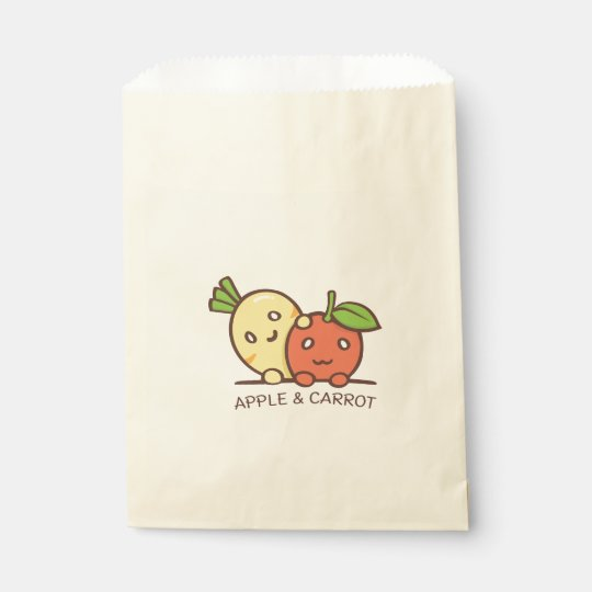 Apple and carrot favour bag