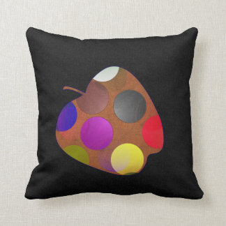 Apple and pear throw pillow