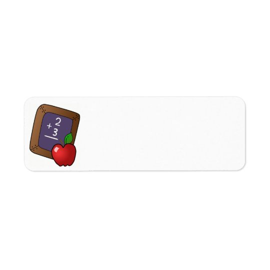 apple_and_slateboard  black board, chalk, chalkboa return address label