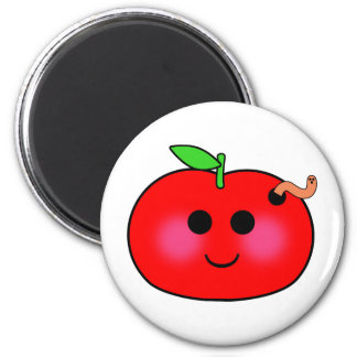 Apple and Worm Magnet