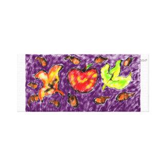 Apple art canvas print