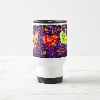 Apple art travel mug