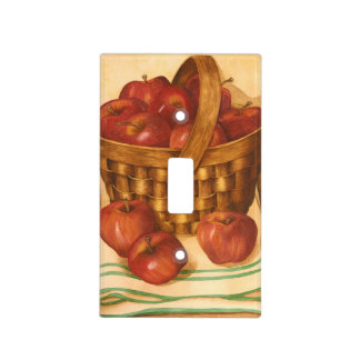 Apple Basket Still Life - Light Switch Cover