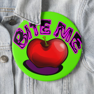 Apple BITE ME Nostalgic Retro 90s Pin