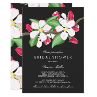Apple Blossom Branch | Bridal Shower Card