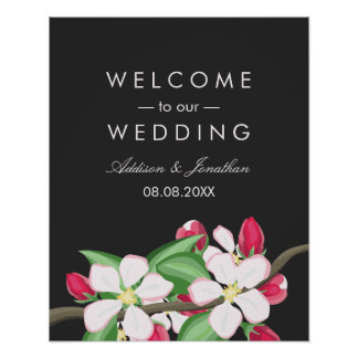 Apple Blossom Branch | Welcome to Our Wedding Poster