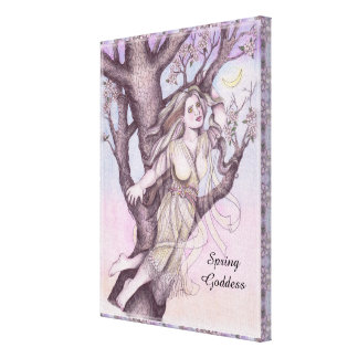 Apple Blossom Dryad Fairy Faerie Altar Art Canvas Print