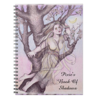 Apple Blossom Dryad Fairy Faerie BOS Grimoire Spiral Notebook