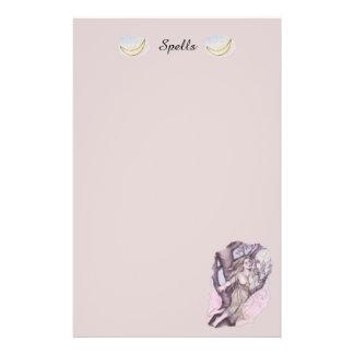 Apple Blossom Dryad Fairy Faerie Mini Spell Page Custom Flyer