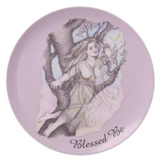 Apple Blossom Dryad Fairy Faerie Offering Dish Dinner Plate
