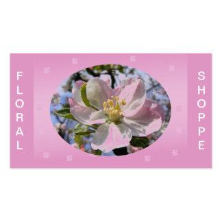 Apple Blossom Flower Business Card Template
