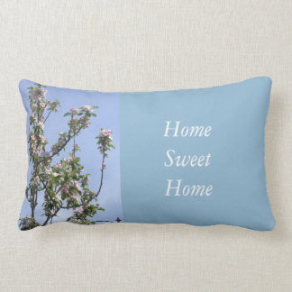 Apple Blossom Home Sweet Home Lumbar Pillow