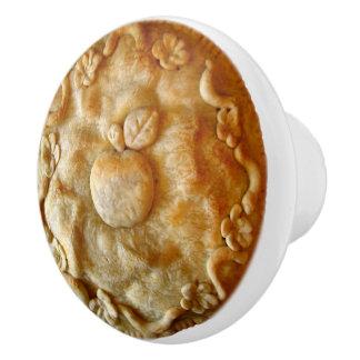 Apple Blossom Pie Ceramic Knob